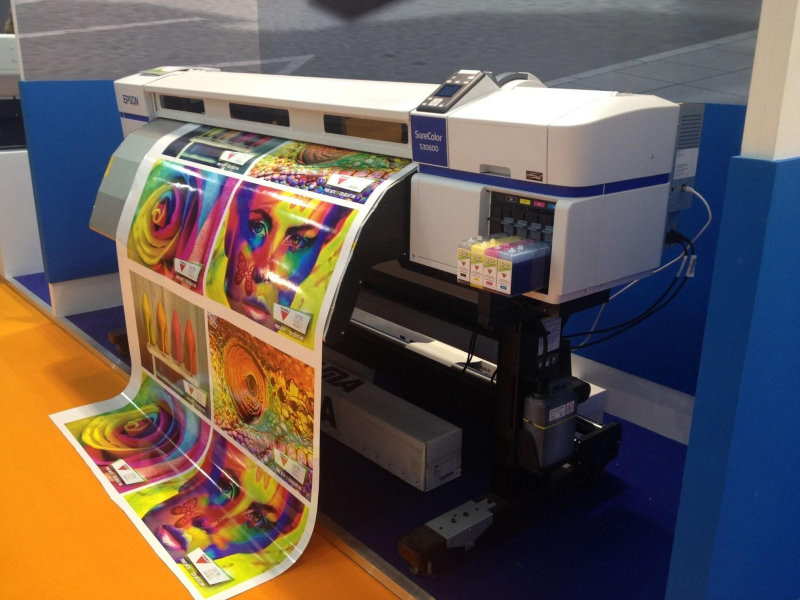 colored poster printing machine
