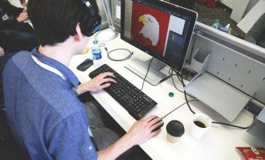 graphics designer designing on a computer
